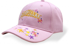 Girls Cap. Pink Caterpillar