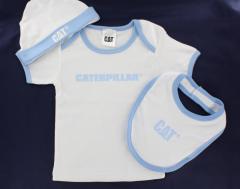 CAT Baby Set - Boys T-Shirt, Bib and hat