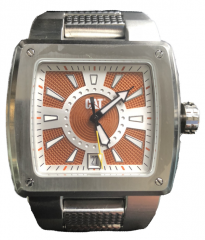 Silver Metal Square Watch