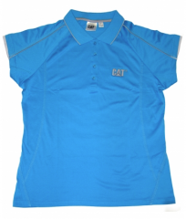 CAT Ladies Cyan/Silver Blade Polo