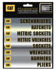 CAT 4-Piece Text and Logo Decal Kit