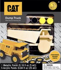 CAT Caterpillar - Dump Truck Wood Paint Kit