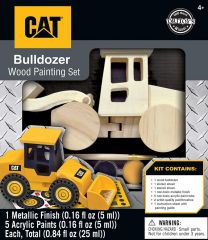 CAT Caterpillar - Bulldozer Wood Paint Kit