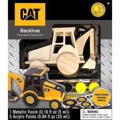 CAT Caterpillar - Backhoe Wood Paint Kit