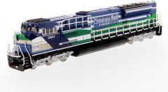 EMD 1:87 SD70ACe-T4 Locomotive Blue/Green High Line HO Series