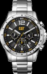 CAT Boston Chrono Watch Black/Yellow - Steel strap