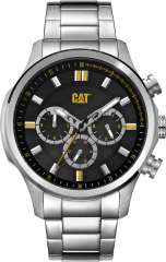 CAT AG MULTI Watch Stainless Black/Yellow with Stainless Steel Strap