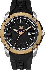 CAT Elite 3HD Watch Black/Gold - Silicone strap