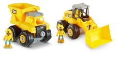 CAT Build Your Own Vehicle 2-Pack (Dump truck + Wheel loader)