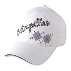 Ladies White Argyle Cap
