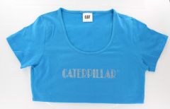 CAT Blue Ladies Bling Tee