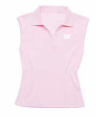 CAT Ladies Sleeveless Polo Shirt