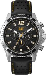 CAT Carbon Blade Multi Watch Black / Leather with Strap