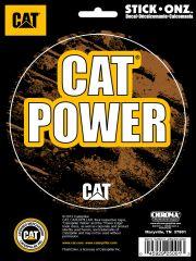 CAT POWER 6X8 DECAL