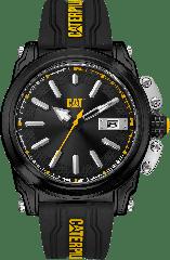 CAT Adventurer Watch 3HD Blk/Blk/Yel Silicone Strap