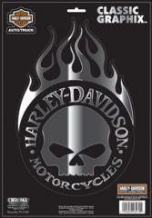 "Harley-Davidson® Harley Skull 9"" x 13"" Cla"