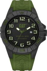 CAT Special Ops 3HD Watch Black/Green with Silicone Strap