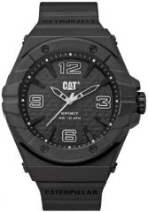 CAT Spirit II 3HD Watch Black/White with Silicone Strap