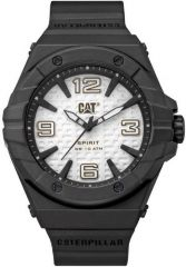 CAT Spirit II 3HD Watch Silver/Black with Silicone Strap