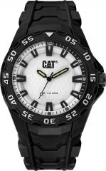 CAT Motion 2020 Watch Black/Silver with Rubber Strap