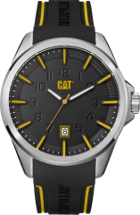 CAT Slate 3HD Watch Silver/Black/Yellow with Silicone Strap