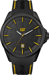 CAT Slate 3HD Watch Black/Black/Yellow with Silicone Strap