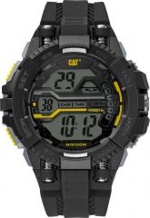 CAT Bolt One Digital Watch Black/Yellow/Black Watch with Silicone Strap