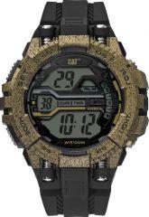 CAT Bolt One Digital Watch Black/Bronze/Bronze Watch with Silicone Strap