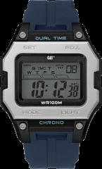 CAT DIGI2 Digital Watch Grey/Black/Night Blue with Silicone Strap