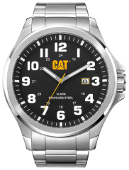 CAT Operator 3HD Watch Black/White Stainless steel strap