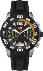CAT Drive Chrono Watch Black/Yellow with Silicone Strap