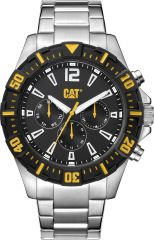 CAT Steer Multi Watch Black/Yellow with Stainless Steel Strap