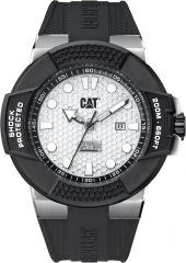CAT Shockmaster 3HD Watch Silver with Silicone Strap