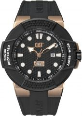 CAT Shockmaster 3HD Watch Black/Rose Gold with Silicone Strap