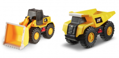 CAT Tough Machines Toy w/ Lights & Sounds - 2Pack (Dump truck + Wheel loader)