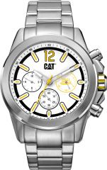CAT Twist up Multi Watch White/Yellow with Stainless Steel Strap