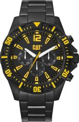 CAT Steer Multi Watch Black/Yellow with Black Stainless Steel Strap