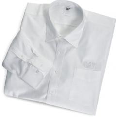CAT White Fine Line L/S Dress Shirt