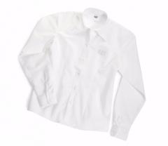 CAT Ladies Long Sleeve White Oxford Shirt