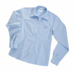 CAT Ladies Long Sleeve Blue Oxford Shirt
