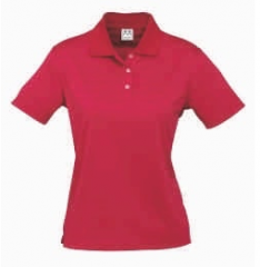 CAT Ladies Red Icon Polo