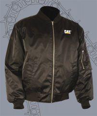 CAT Black Nylon Bomber Jacket