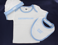 CAT Baby Set - Boys T-Shirt, Bib and hat