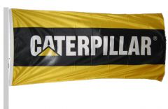 Caterpillar Corporate Flag Black and Gold