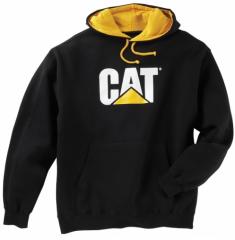CAT Childrens Black Hooded Sweatshirt