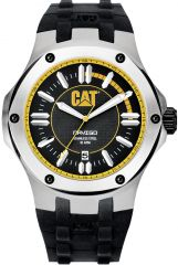 CAT Navigo Black/Yellow 3HD Watch with black silicone strap
