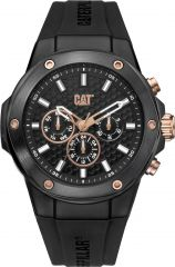 CAT Navigo X Multi Watch Black/Rose Gold with black silicone strap
