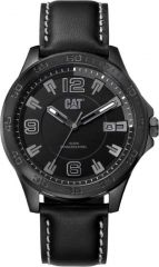 CAT Boston 3HD Watch Black/Grey with Leather Strap