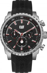 CAT Podium Chrono Watch Black/Red with Silicone Strap
