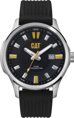 CAT AG 3HD Watch Stainless Black/Yellow with Silicone Strap